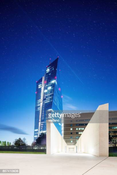memorial at european central bank - seat of the european central bank stock photos and pictures