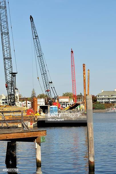 Memorial Bridge Construction on Piscataqua River