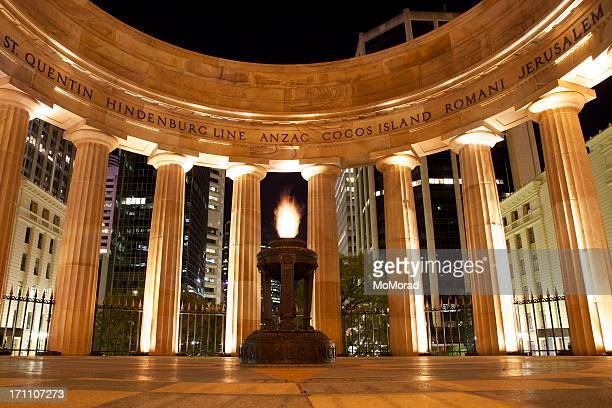 anzac memorial brisbane - war memorial stock pictures, royalty-free photos & images