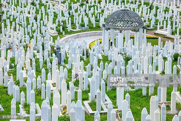 memorial cemetery - guerre de bosnie-herzégovine photos et images de collection