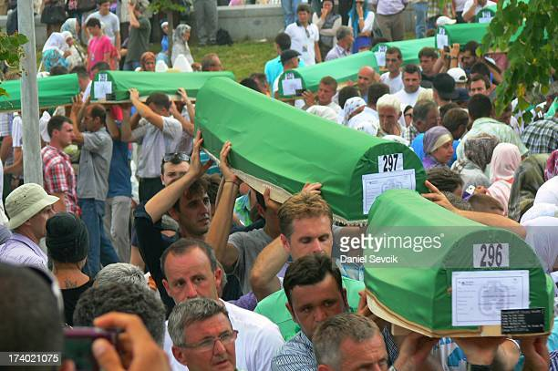 CONTENT] Memorial ceremony at Potocari graveyard 16th anniversary of Srebrenica massacre