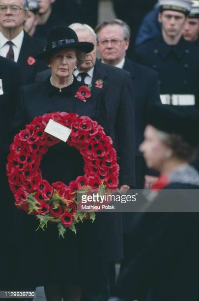 Memorial Ceremony at the Cenotaph in the presence of Margaret Thatcher