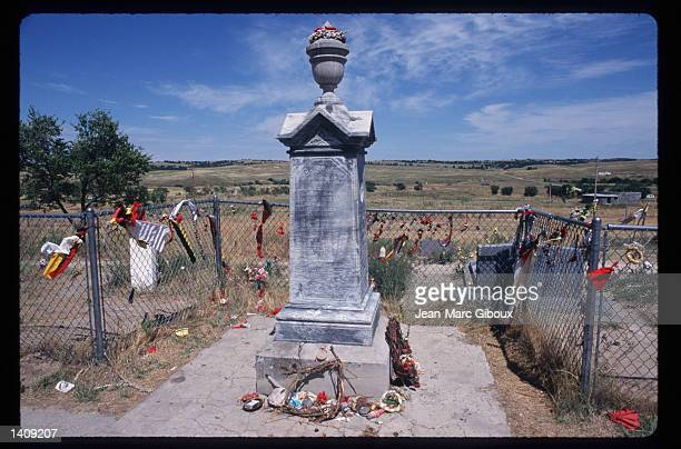 Memorial commemorates those who died at the battle of Wounded Knee August 1, 1996 in the Black Hills region of South Dakota. Sioux tribe members...