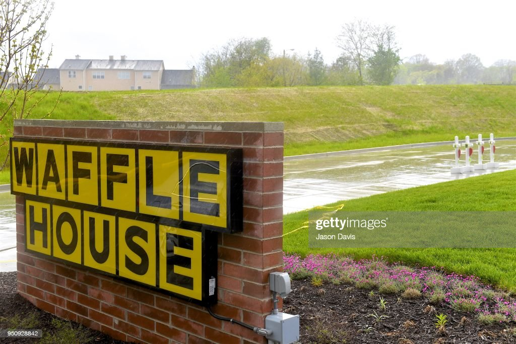 Memorial Crosses Erected At Waffle House Where Four People Were Killed By Gunman : News Photo