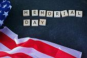 memorial day american flag inscription black