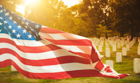 memorial day at cemetery 491839165