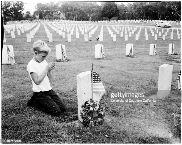 Memorial Day at Veterans Administration Center 30 May 1952 Darryl Markham 9 yearsBoyd Sullards 60 years Arthur Colvard 59 yearsJames Riggs 23...