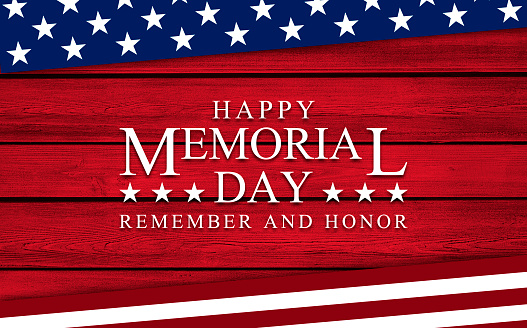 USA Memorial Day background on wood 1221879505
