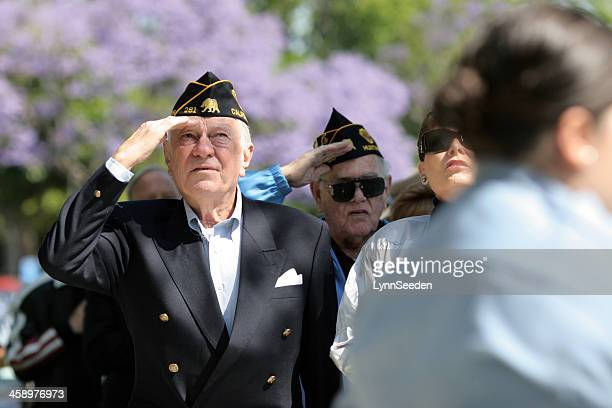 memorial day ceremony - purple hat stock pictures, royalty-free photos & images