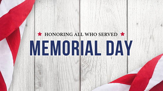 Memorial Day - Honoring All Who Served Text Over White Wood 946888628