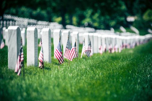 Memorial Day in Arlington National Cementery 497600191