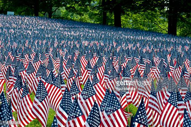 memorial day in boston, 20,000 flags - happy memorial day stock pictures, royalty-free photos & images