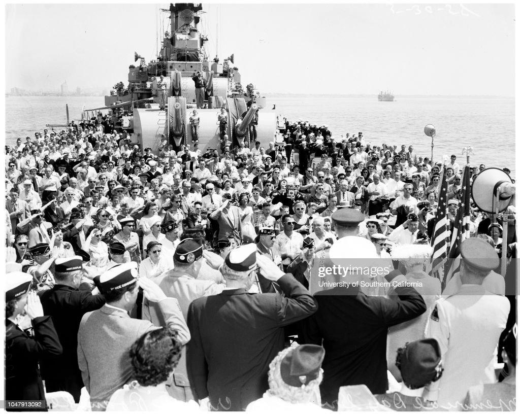 Memorial day in Long Beach Harbor, 30 May 1958  General
