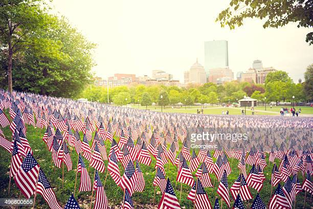 memorial day - boston common stock pictures, royalty-free photos & images