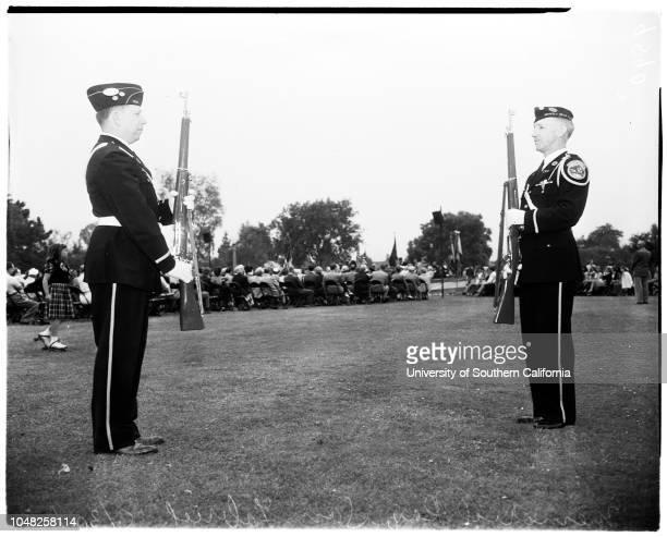 Memorial Day San Gabriel 30 May 1952 Mayor Paul T Erskine Frank Carpenter Walter Hatch Charles Rhodes Sergeant Orville BierkleMrs EM ButtCommander...
