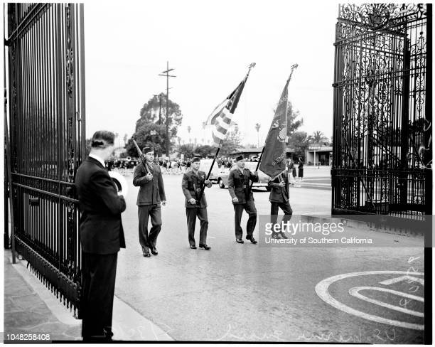 Memorial Day services Glendale and Forest Lawn 30 May 1952 Clark PomeroyLieutenant Governor Foodwin J KnightMrs Janet HaydeCadet Sergeant Howard...