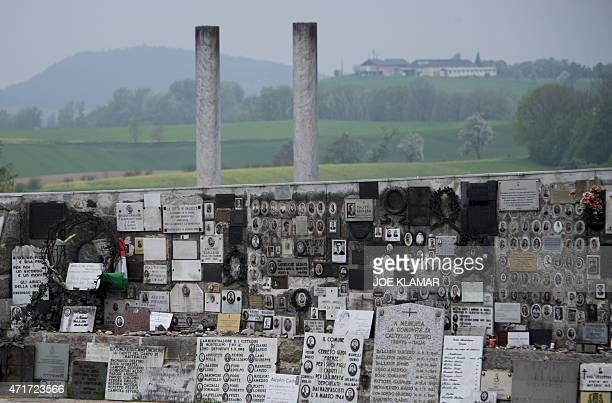 A memorial dedicated to the Italian victims of the Nazi concentration camp Mauthausen northern Austria on April 28 2015 AFP PHOTO / JOE KLAMAR