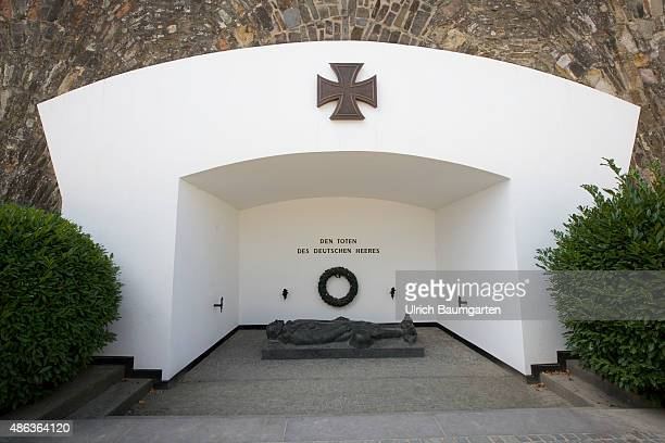 Memorial for fallen soldiers of the German army at the fortress Ehrenbreitstein in Koblenz