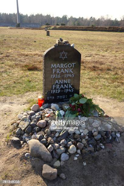 A memorial for Jewish teenage diarist Anne Frank and her sister Margot at the former BergenBelsen German Nazi concentration camp in Lower Saxony...