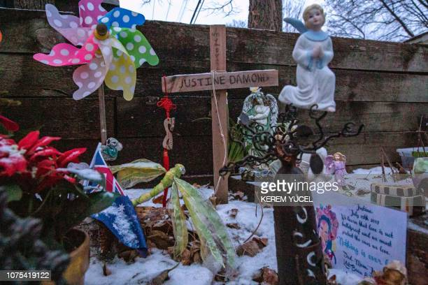 A memorial for Justine Damond is seen near the alleyway were she was found dead in Minneapolis Minnesota on December 28 2018 A policeman accused of...