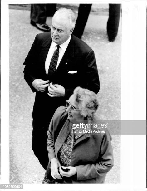 Memorial for Lionel Murphy at Town Hall Gough amp Margaret Whitlam October 27 1986