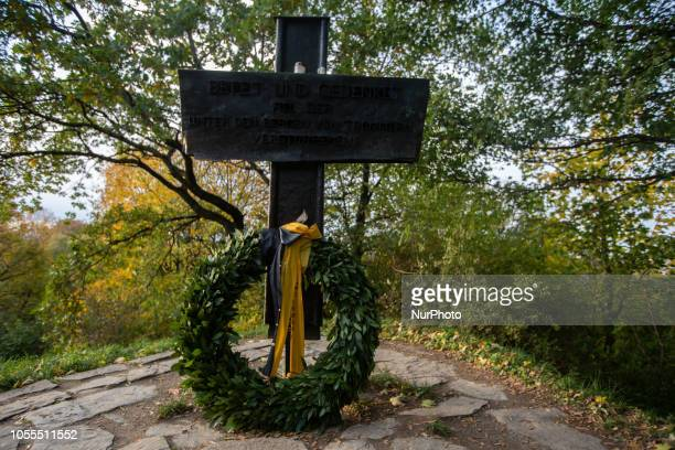 A memorial for the fallen of World War II with mourning wreath of the city of Munich on October 30 2018Impressions of the Fall in Munich on October...