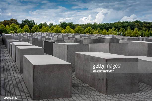 memorial for the murdered jews of europe in berlin, germany - holocaust stock pictures, royalty-free photos & images