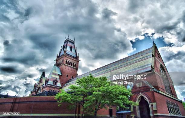マサチューセッツ州ケンブリッジのハーバード大学の記念ホール - アイビーリーグ ストックフォトと画像