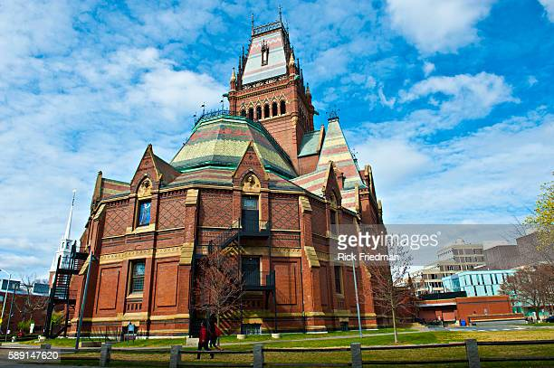 Memorial Hall is a brick building built in High Victorian Gothic style located on the Harvard University campus in Cambridge MA on April 14 2012...