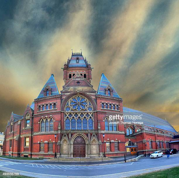 Memorial Hall is an imposing brick building in High Victorian Gothic style, located on the Harvard University campus. It is now a National Historic...