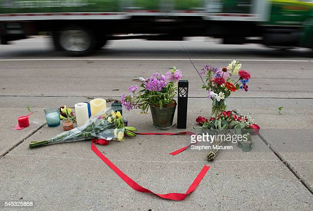 A memorial left for Philando Castile following the police shooting death of a black man on July 7 2016 in St Paul Minnesota Philando Castile was shot...