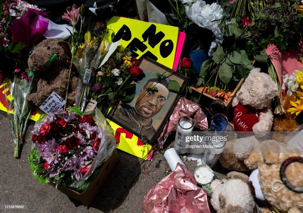 Vigil Held For George Floyd, Who Was Killed In Police Custody In Minneapolis : News Photo