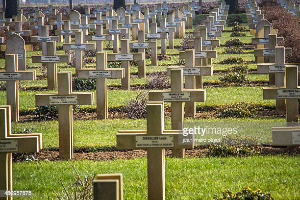 Memorial, military cemetery of Malmaison in France. It is located on the chemin des dames between Soissons Laon and Reims. In this place in april...