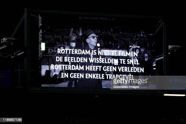 memorial of Jules Deelder during the Dutch Eredivisie match between Sparta v AZ Alkmaar at the Sparta Stadium Het Kasteel on December 21 2019 in...