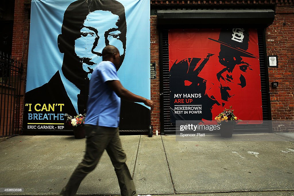 Memorial In Brooklyn For Recent Victims Of Police Violence, Eric Garner And Michael Brown : News Photo
