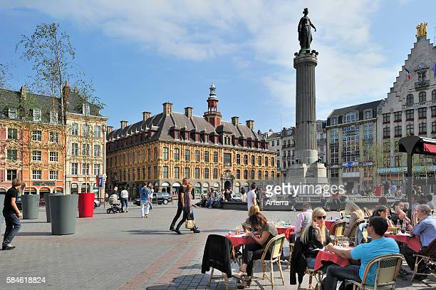 Memorial of the siege of 1792 / Column of the Goddess / La Deesse at the Place du General de Gaulle Lille France