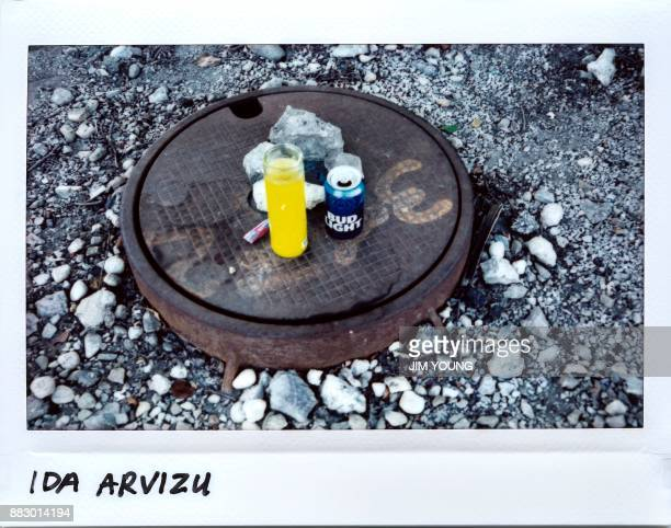 A memorial on a man hole cover for Ida Arvizu 28yearold in the 4700 block of South Fairfield Avenue in Chicago Illinois on September 17 2017 Arvizu...