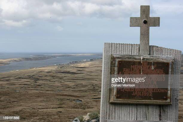 CONTENT] Memorial on Mt Tumbledown scene of battle during the Falkland's War in 1982 Stanley can be seen in the background