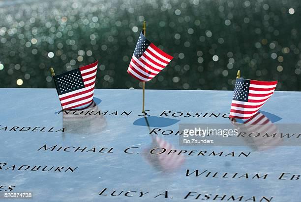 Memorial Pool flags