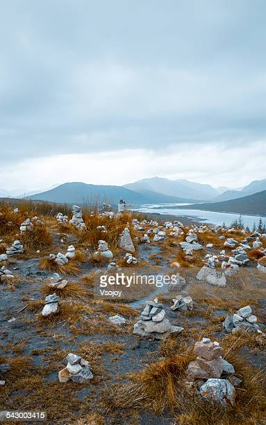 memorial rocks on hill top, highlands scotland - vsojoy stock pictures, royalty-free photos & images