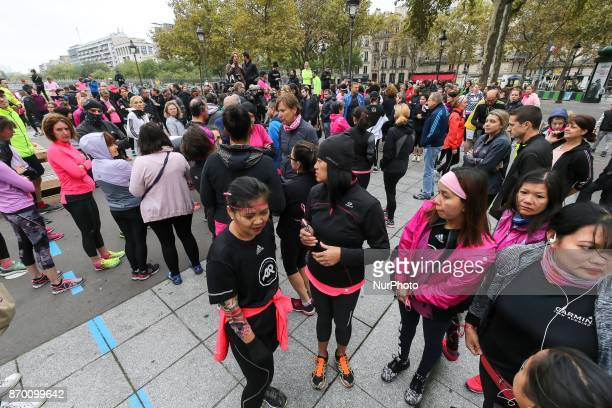 Memorial run organized on November 4 2017 in Paris France in tribute to Alexia Daval whose body was found calcinated three days after her...