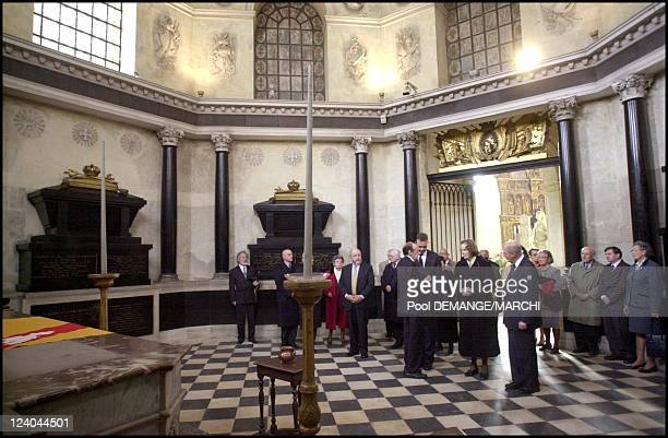 Memorial service for the Dukes of Lorraine at the Chapelle des Cordeliers in Nancy France on October 28 2001 Archduke Otto von HabsburgLorraine with...