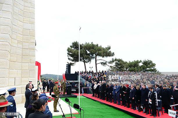 A memorial service is held at the New Zealand National Memorial on the occasion of the 100th anniversary of Canakkale Land Battles on Gallipoli...