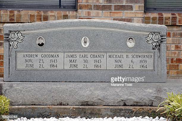 A memorial sits outside Mt Nemo Missionary Baptist Church honoring the lives of Andrew Goodman James Chaney and Michael Schwerner June10 2005 in...