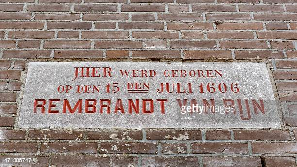 Memorial stone Rembrandt's birthplace