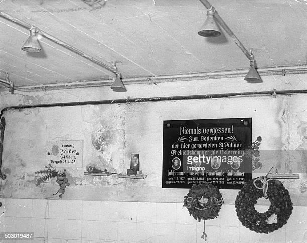 Memorial Tablets In The Former Gaschamber Austria Photograph 1965