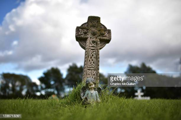 Memorial to an unknown child can be seen on the unconsecrated grounds area known as the Bog Meadows in Milltown cemetery which is home to unmarked...