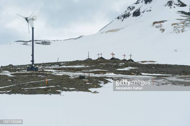 Memorial to explorers who did not return to their homes on November 05 2019 in King George Island Antarctica