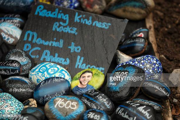 A memorial to PC Andrew Harper near Reading Berkshire on the first anniversary of his death on August 14 2020 near Reading England The 28yearold died...