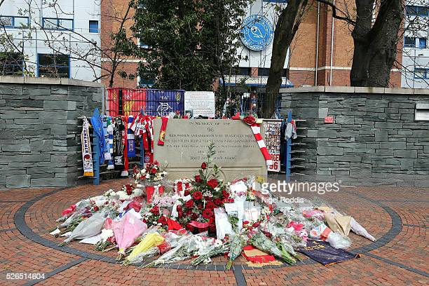 Memorial to the Liverpool fans who died at Hillsborough in 1989 ahead of the Sky Bet Championship match between Sheffield Wednesday and Cardiff City...
